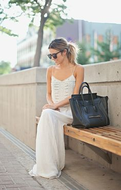 gorgeous beaded maxi (and my dream bag)