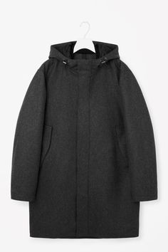 sale retailer 06a8d a1a6d COS image 5 of Hooded padded parka in Dary Grey
