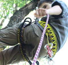 This is a DIY harness for climbing from paracord and a climbing rope. <br> You can made a simple harness from a single 4-5 m (13-16 feet) climbing rope as You may see in this tutorial but it's pretty uncomfortable. In this tuto...