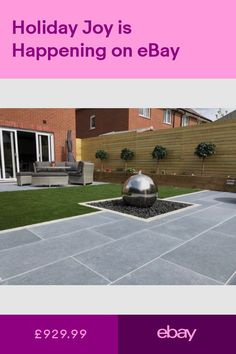Patio Stones & Paving Slabs Garden & Patio - Garden for All Patio Steps, Patio Diy, Backyard Patio, Backyard Landscaping, Budget Patio, Garden Slabs, Garden Tiles, Patio Tiles, Garden Paving