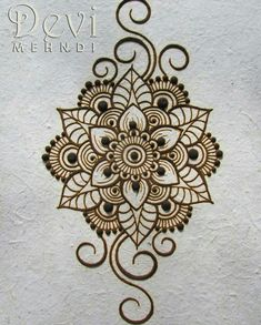 tattoosI wish you all a nice week! It's monday! This is dried henna paste on recycled paper. I drew my favorite mandala flower with some swirls.I wish you all a nice week! It's monday! Arte Mehndi, Mehndi Art, Henna Mehndi, Henna Art, Mehendi, Hand Henna, New Mehndi Designs 2018, Henna Designs On Paper, Tattoo Henna