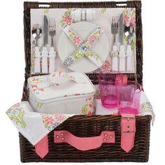 Pretty picnic basket.