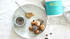 4-Ingredient Almond Butter Protein Balls Almond Butter, Coconut Flour, Peanut Butter, Grass Fed Gelatin, Protein Ball, Gluten Free Cooking, 4 Ingredients, Peanuts, Low Carb Recipes