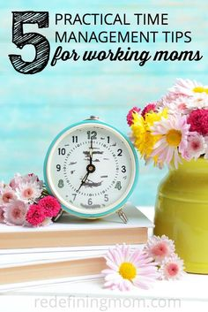 I needed this! Time management is so difficult for working moms when we are gone from the house for 40+ hours a week. These 5 practical time management tips for working moms helped me save precious time and keep my sanity in check!