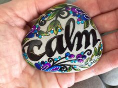 Calm / painted rocks / painted stones / tranquil / beach stones / cape cod / paperweights / Sandi Pike Foundas by LoveFromCapeCod on Etsy