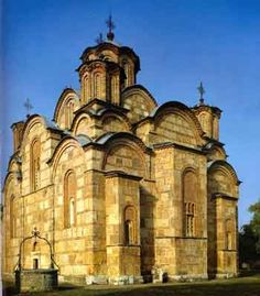 Serbian-Orthodox Monastery Gračanica (UNESCO World Heritage) Built by Serbian King Milutin in 14 century | Kosovo
