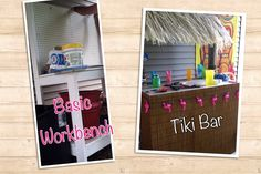 Transform an old workbench to tiki bar! I did that!