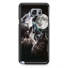 Mountain's Three Wolf Moon TATUM-7443 Samsung Phonecase Cover Samsung Galaxy Note 2 Note 3 Note 4 Note 5 Note Edge