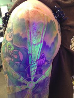 UV Green Lantern tattoo