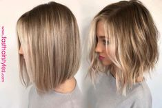 Straight vs Wavy Was ist dein Favorit? Straight vs Wavy Was ist dein Favorit? The post Straight vs Wavy Was ist dein Favorit? Cheveux Beiges, Medium Hair Styles, Curly Hair Styles, Short Textured Hair, Short Light Brown Hair, Textured Lob, Short Wavy, Long Bob, Long Aline Bob