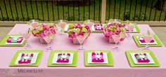 pink and green spa party - Google Search