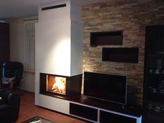 Chimenea Quento modelo Illobre con Termogar 70 de Rocal. Fireplaces, House, Inspiration, Home Decor, Templates, Santiago De Compostela, Houses, Fire Places, Drive Way