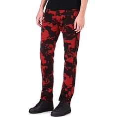 MCQ ALEXANDER MCQUEEN Skinhead slim-fit straight jeans (Red) - McQueen never gets jeans/pants/trousers wrong.