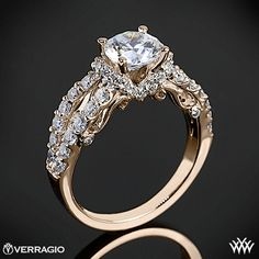 Verragio 4 Prong Pave Wrap Diamond Engagement Ring from the Verragio Insignia Collection.