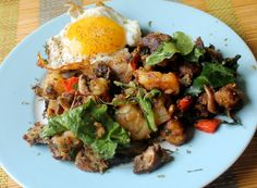 Brunch Time - Potato Mushroom Hash a la Bobby Flay