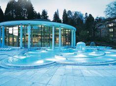 Les thermes d'eau chaude de Caracalla à Baden-Baden.