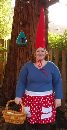 Like the skirt for Katie's gnome costume