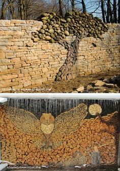 woodpile art - Google Search