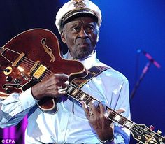"""Considered by many as the """"father of rock 'n' roll,"""" Chuck Berry was born Charles Anders. Chucky, Charles Edward, Missouri, Rockabilly Music, New Tap, Chuck Berry, Rock N Roll Music, Playing Guitar, Dance Music"""