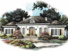 French Country House Plan with 2785 Square Feet and 4 Bedrooms(s) from Dream Home Source | House Plan Code DHSW42419