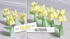 Origami hajtogatás: Tulipán - Ünnepi Dekor