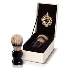 Classic Male P/B Shave Brush | Cream, Black | 8x12cm by The Scottish Fine Soaps Company on THEHOME.COM.AU