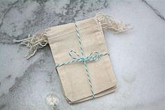 Muslin favor bags 2.5 x 4. Set of 25. by ClementineWeddings