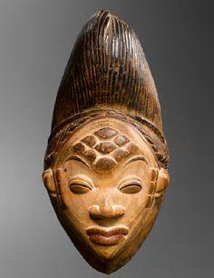 Punu (Lumbo) Okuyi Mukudj Mask, Gabon