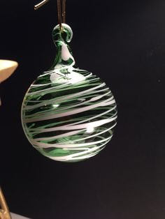 Hand Blown Glass Ornament by JABGLASSART on Etsy, $20.00