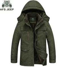 8399aa5a985d AFS JEEP Parka Winter Jacket Men Thick Warm Wool Liner Hooded Collar Warm  Coat