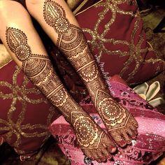 Bridal henna - feet