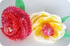 flor de forminha de papel
