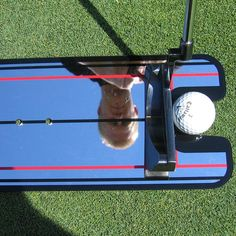 sale golf putting mirror alignment training aid swing trainer eye line golf practice putting mirror #golf #swing #trainer