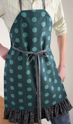 Tea Towel Apron long--10 different apron patterns...simple patterns...aprons to sell and/or wear as uniform for workers.