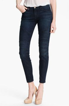 Current/Elliott 'The Moto' Skinny Ankle Jeans (Raleigh) available at #Nordstrom