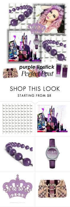 """""""Perfect Pout"""" by ericjen8685 ❤ liked on Polyvore featuring beauty, Cole & Son, Urban Decay, GUESS, Gucci and Salvador Dali"""