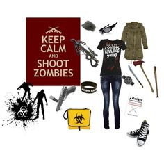 There are problems with this outfit - first, converse sneakers look good, but aren't good for hoofing it long distances, also, you need steel toed books that go up probably to the knees so you have added protection from zombies that might be at a state of decay where they're low to the ground.