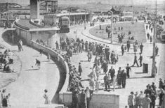 A busy Seaton Carew bus station.fairground in background Great North, Northern England, Bus Station, Old Pictures, Seaside, The Past, Durham, History, Places