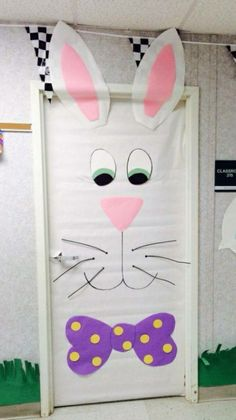 Thinking about Spring Classroom decorations or Easter decorations for Classroom? Take quick clues from this Easter and Spring Classroom Door Decorations. Preschool Door, School Doors, Classroom Door, Preschool Classroom, Classroom Organization, School Decorations, Room Doors, Easter Crafts, Easter Ideas