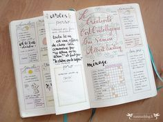 Bullet Journal Septembre planning hebdomadaire
