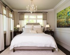 Small Master Bedroom. Great for older homes. Nice finishes to make it feel grand.