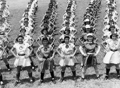 All American Girls Professional Baseball League members performing calisthenics: Opa-locka, Florida by State Library and Archives of Florida
