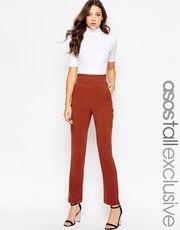 Pantalones pitillo tobilleros de conjunto de ASOS TALL