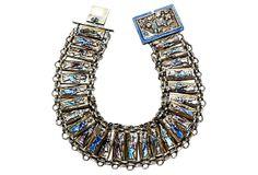 Chinese Canton Enamel Repoussé Bracelet on OneKingsLane.com   $575.00