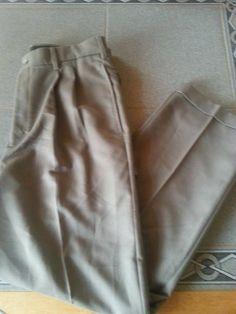 NWT Bill Blass brown pleated cuffed dress pants. Mens Sz 32x30 #BillBlass #DressPleat