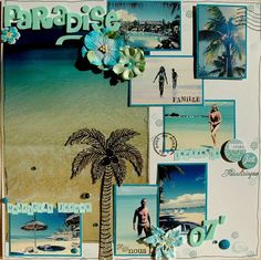 love this beach LO!! - Layout: Paradise by Girlfromipanema21 on Scrapbook.com