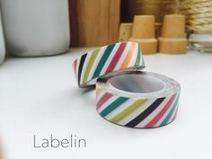 A personal favorite from my Etsy shop https://www.etsy.com/listing/250099047/rainbow-washi-tape-color-stripes-washi