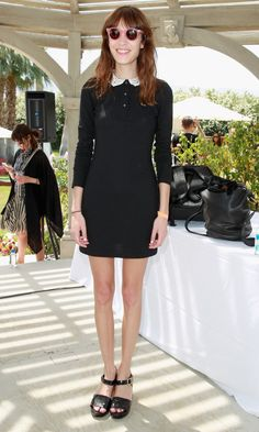 Alexa Chung - Coachella 2013. ***Alexa is Flamboyant Natural, not Gamine at all. The dress on the other hand is very gamine. There is a disconnect between her and the dress. :(