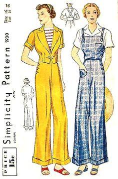 vintage slacks pattern