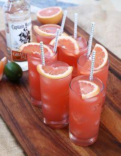 Guava Cocktail recipe - coconut rum, grapefruit juice, and guava nectar!